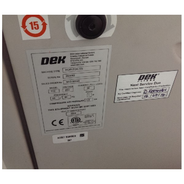 used dek smt screen printer